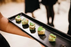 Canapés made using recipes from Eve Kalinik's book