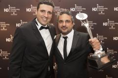 Schwarzkopf's Stuart Hamid with Angelo Seminara
