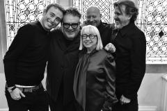 John Vial, Tim Hartley, Annie Humphreys, Billi Currie and Mark Hayes