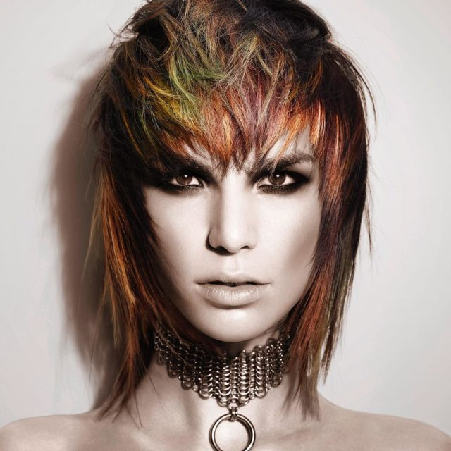 Loving melenietudor s collection chroma that combines super edgy haircutshellip
