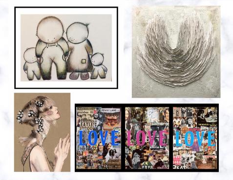 jason miller, Sally brooks, Rosie Briscoe and Mark Woolley art works